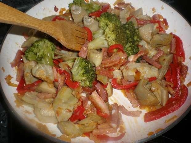 Mezclar brócoli